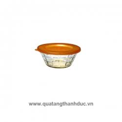 Thố Thủy Tinh Nắp Nhựa Vàng Indo TNNID01