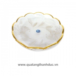 Dĩa Hoa Cẩm Chướng Viền Vàng DTC002