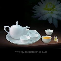 Bộ trà 0,45L Anh Vũ chỉ bạch kim