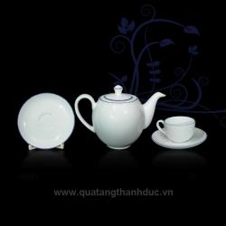 Bộ trà 0.8L Chỉ Xanh Dương